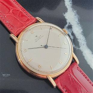 Mens Rolex Chronometer 4282 35mm 14k Rose Gold Manual