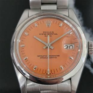 Mens Rolex Oyster Perpetual Date 1500 35mm Orange Dial