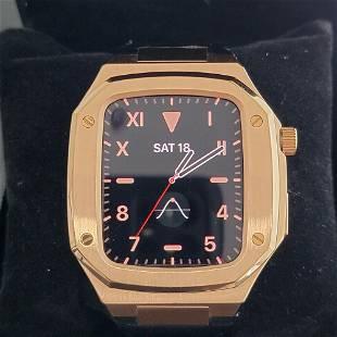 Apple Series 6 SE 44mm Watch AP ROO Style 18k Rose Gold