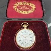 Patek Philippe Chronometro Gondolo 52mm 18k Gold Pocket