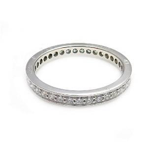 Authentic! Cartier Platinum Diamond 0.70ctw Eternity