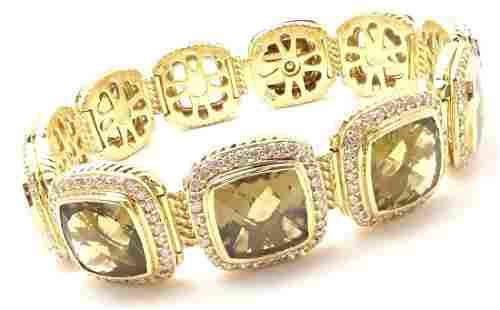 David Yurman Albion 18k Yellow Gold 3.20ct Diamond