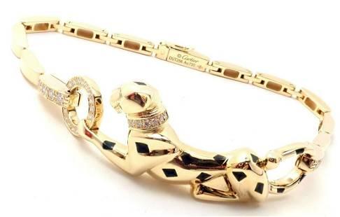 Cartier Panther Panthere 18k Yellow Gold Diamond
