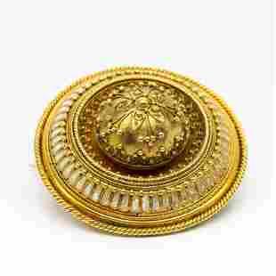 An Antique 18 k gold Early Victorian Memento Mori