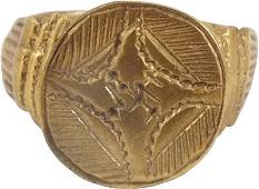 FINE EUROPEAN CRUSADER'S RING C.1100-1200 AD, SIZE 8