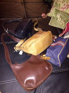 4 Leather Coach Bags