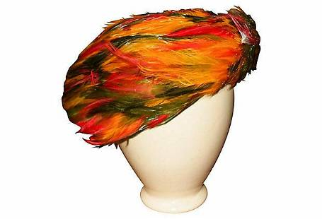 Christian Dior Haute Couture Feather Hat