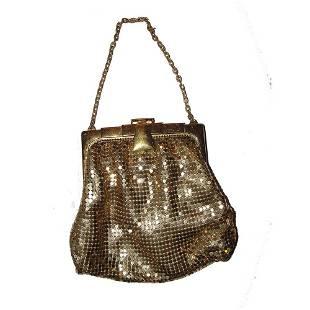 Vintage Gold Mesh Whiting and Davis Bag