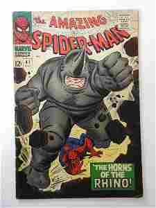 Amazing Spider-Man #41 First appearance of the Rhino!