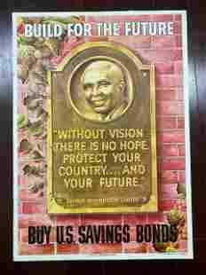 "George Washington Carver (1945) 18.5"" x 26"" US WWII"