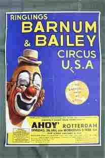 """Barnum & Bailey (1964) 16.25"""" x 23.325"""" Dutch Circus"""