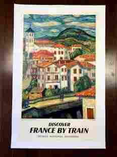 France by Train - Basque - Art by A. Lanbourg (1938)