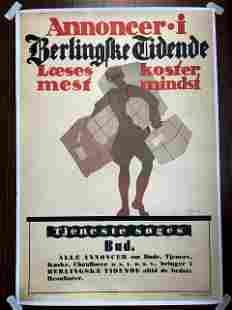 Annoncer Bud - Art by Thor Bogelund Jensen (1918)