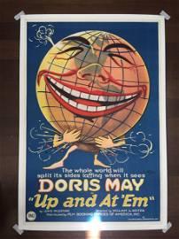 Up and At 'Em - Doris May (1922) US One Sheet Silent
