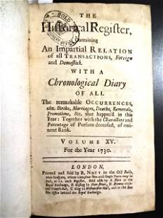 1730 Historical Register America Bering Papal Conclave