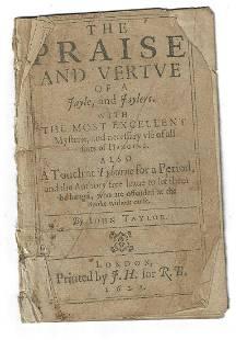 1623 Praise and Vertue Jaylers Hanging