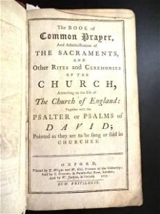1777 Book of Common Prayer Psalms Engravings