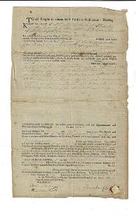 1793 Massachusetts Deed Land in Sunderland