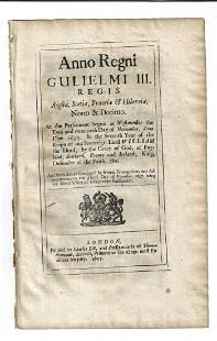 1697 English Act Regulating Fireworks