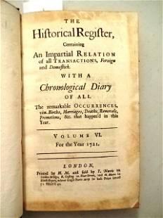 1721 Historical Register Pirates Sea Monsters Judaica