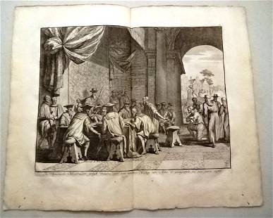 1730 Four Engravings of Netherland Notables