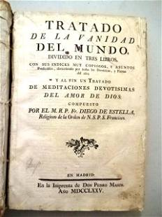 1775 Vellum Bound Spanish Book