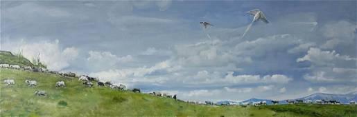 Oil painting Big walk Varvarov Anatoly Viktorovich