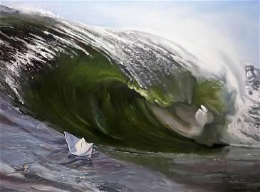 Oil painting Wave Varvarov Anatoly Viktorovich