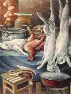 Oil painting hunting still life A. Cherkas