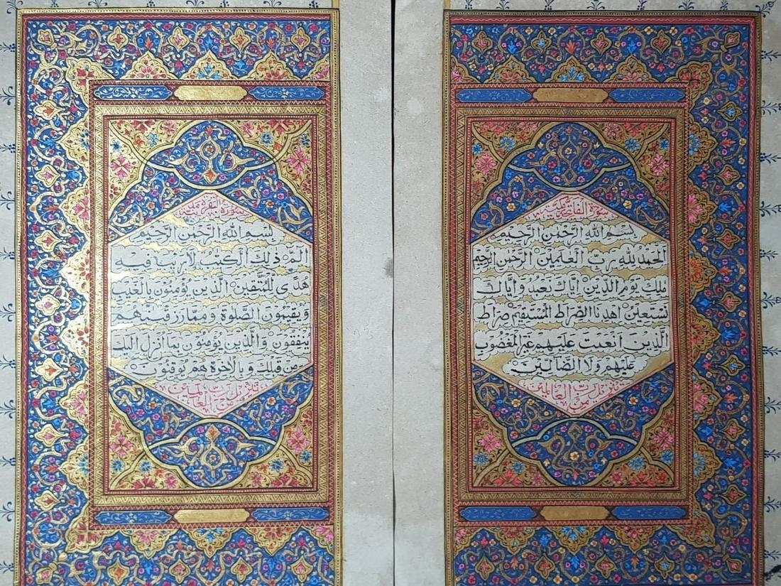 Antique Ottoman Bifolium Leaves Of Quran