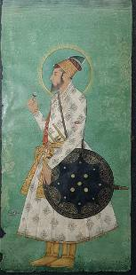 Antique Handmade Mughal Miniature Painting