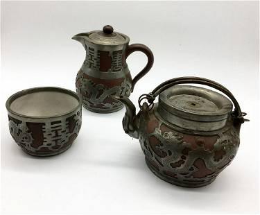 Three Piece Tea Set.China, 19th century