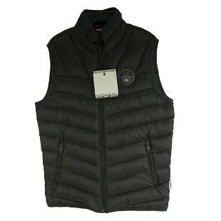 Napapijri Black Sleeveless Vest Men's Thermo- Fibre