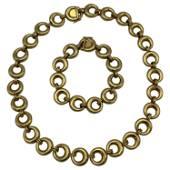 Vintage Chaumet Paris Yellow Gold Link Bracelet and