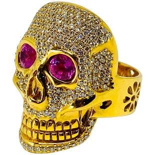 Buddha Mama 20K Yellow Gold Diamond and Pink Tourmaline