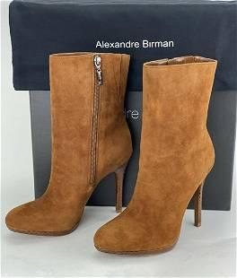 Alexandre Birman Salto Mela Pata Havana Suede Leather