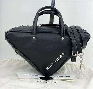 BALENCIAGA Triangle Duffle S Handbag black Calfskin