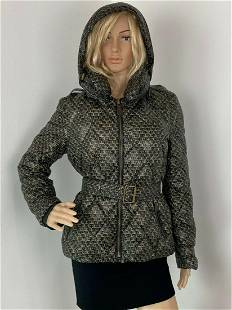 Burberry Brit Black and Gold thin Puffer Down Jacket