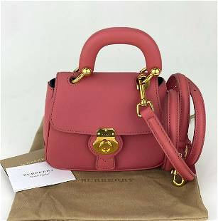 Burberry Small DK88 Top Handle Bag in Blossom Pink