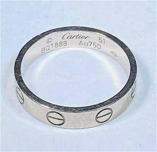 Cartier Love Wedding Band 18k White Gold 3.5mm Band