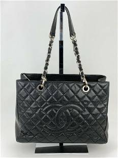 CHANEL Grand Shopping Tote GST Caviar Quilted Black
