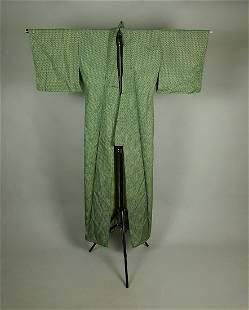 GREEN LINEN KIMONO