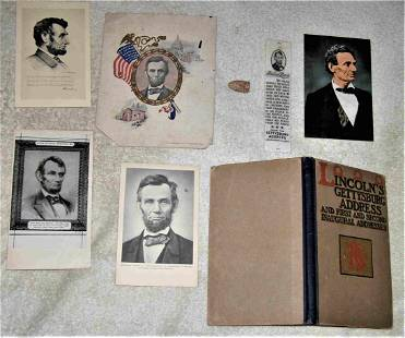 LINCOLN'S GETTYSBURG ADDRESS + DUG CIVIL WAR BULLET +