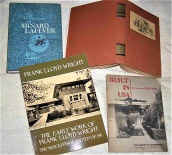 Lot 4 books American Architecture