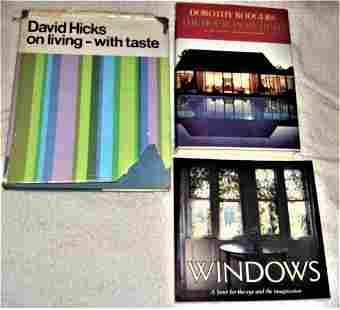 Lot 3 books Interior Design and Decoration : Hicks -
