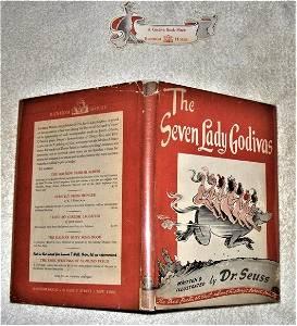 THE SEVEN LADY GODIVAS with rare Bookmark, Risque Seuss