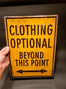Metal Clothing Optional Sign