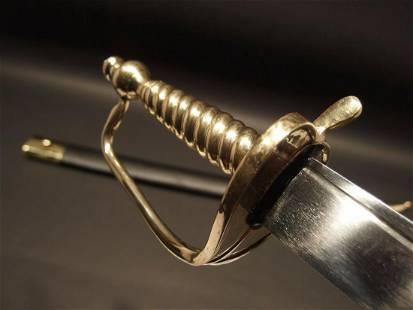 Revolutionary War English Officer Hanger Cutlass Sword