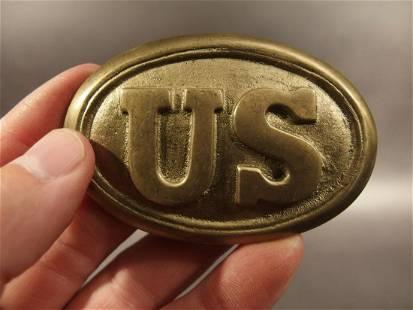 Civil War Union Soldier US Belt Buckle Plate SOLID