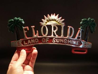 """Florida """"Land of Sunshine"""" License Plate Frame"""